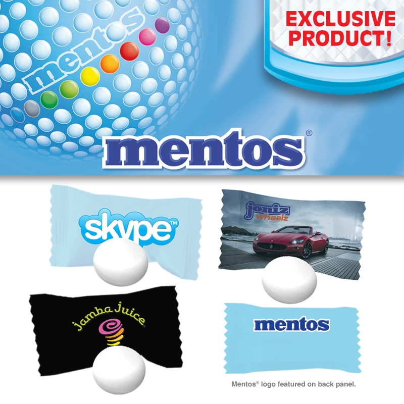 Individually wrapped Mento mints - Full Color Wrapper (sold in cartons of 2000)