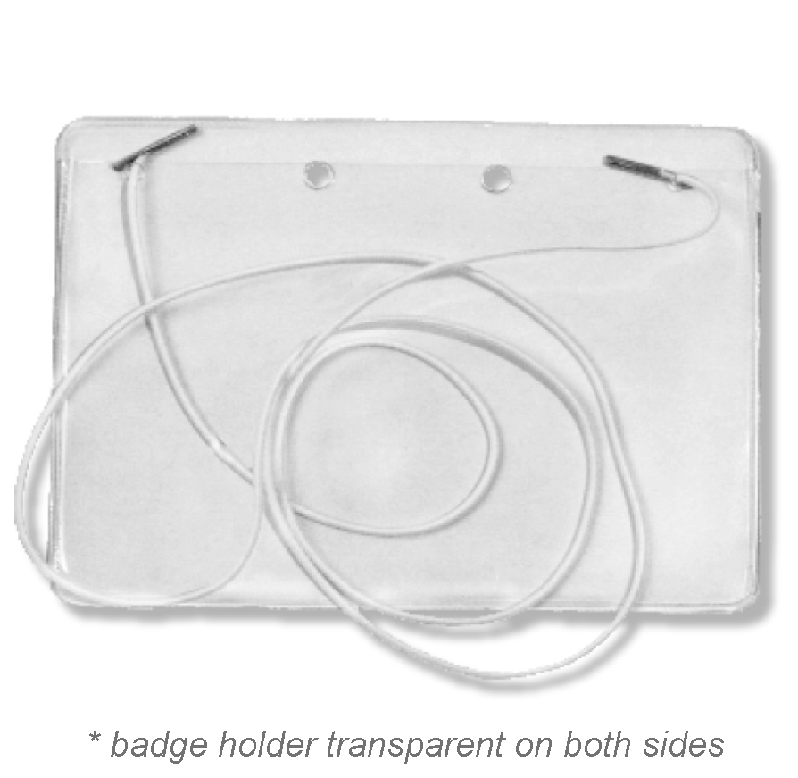 Badge Holder with Elastic Cord