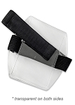 Armband Badge Holder w/Elastic Velcro (blank) Black Band