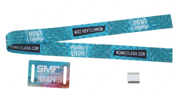 Sublimated Fabric Wristbands with PVC Tag