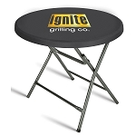 Round Fitted Stretch Table Topper - 30