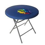 Round Fitted Stretch Table Topper - 24