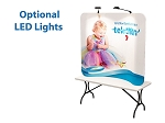 6 Ft Curve Tension Fabric Display - 24 Hr Service