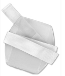 Armband Badge Holder w/Elastic Velcro (blank) White Band