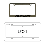 Chrome Metal License Plate Frames Recessed or Raised Copy/Logo Paint Filled