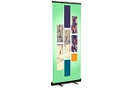 Standard Retractable Banner Stand With Black Hardware