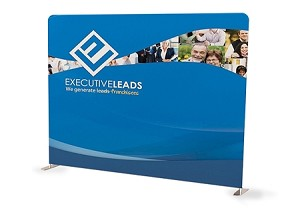 10 Ft Straight Tension Fabric Display - 24 Hr Service