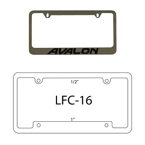 License Plate Frame - Chrome Plated with Painted Lettering or Logo
