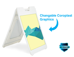 White Simposign A-Frame (Replacement Graphic)