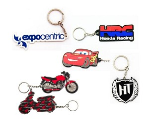 "3"" 2D PVC Custom Key Tags - Any Shape!"