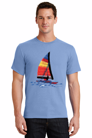 Custom Printed Color T-shirts - Cotton Short Sleeved