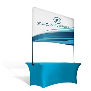"40"" Height x 6' Width  - Table Top Overhead Banner Backdrop"