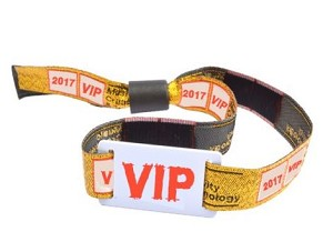 Woven Fabric Wristbands with PVC Tag