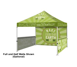 Custom Event Tent Kit 10' x 10' Full Color - 24 Hr. Service